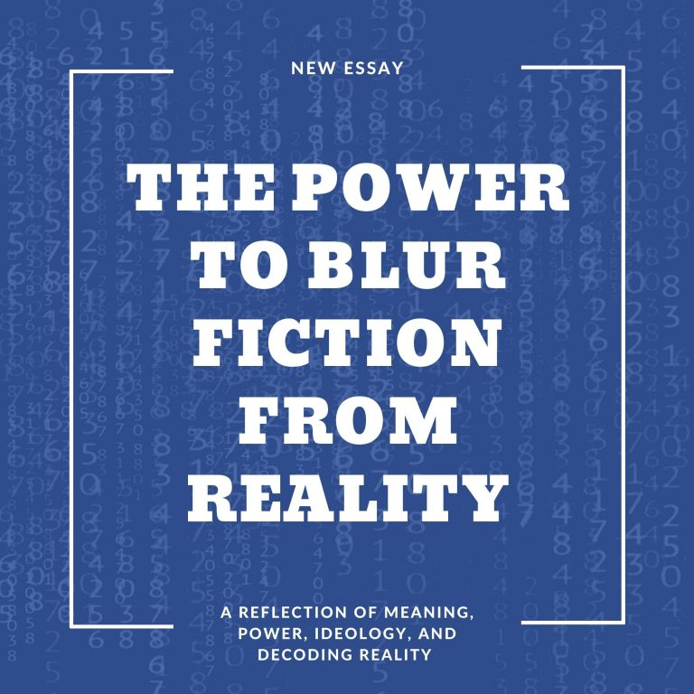 The power to blur fiction from reality